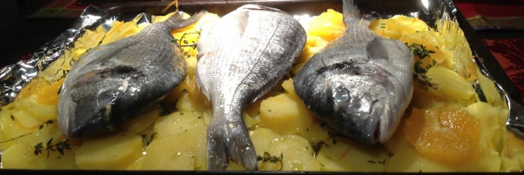 Dorade-im-Kartoffelbett