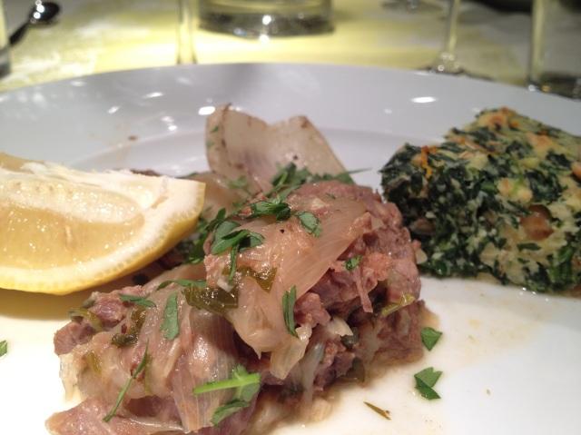Lamm-Cuchifrito mit Fenchel und Spinat-Ostertorte