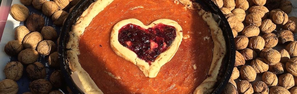 Quitten-Tarte-Cranberry-Herz