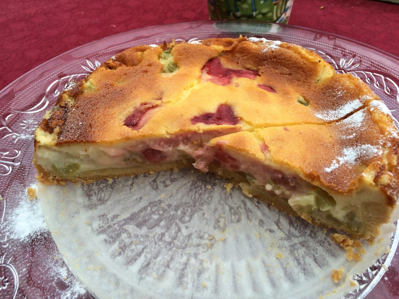 Rhabarber Sahne Quark Kuchen Aus Dem Saarland Echtes Essen