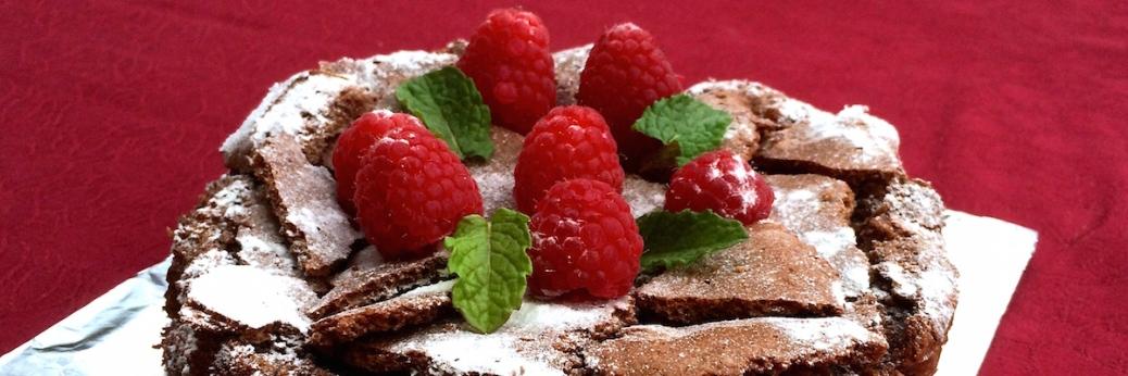 Schokoladenkuchen mit Himbeeren und Minze Header IMG_1451