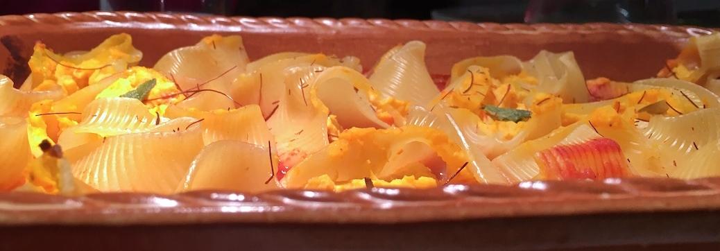Muschelnudeln - Conchiglioni - mit Ricotta und Kuerbisfuellung